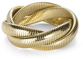 Kenneth Jay Lane Gold Triple Twist Bracelet