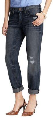 LOFT Boyfriend Jeans in Deconstructed Blue