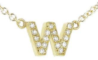 Jennifer Meyer Lower Case Diamond Initial Necklace - W - Yellow Gold