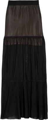 A.L.C. Frida tiered stretch-knit maxi skirt