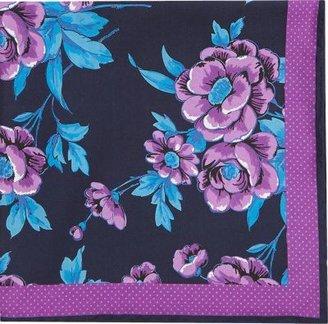 Duchamp Flower and Dot-Print Pocket Square