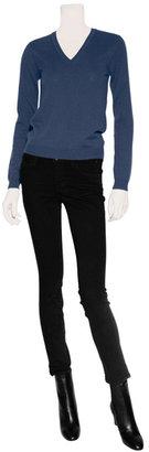 Malo Petrol V-Neck Cashmere Sweater