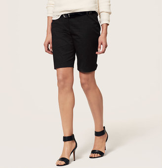 LOFT Pin Dot Walking Shorts with 10 Inch Inseam in Marisa Fit