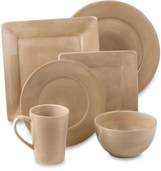 Bed Bath & Beyond Tabletops Unlimited® Misto Round Dinnerware in Light Taupe