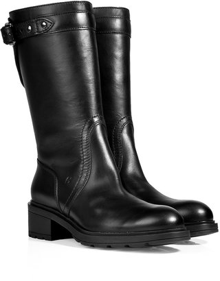 Hogan Leather Boots in Black