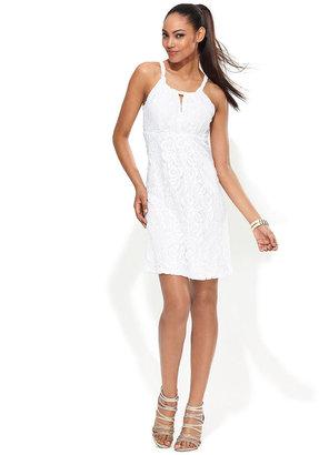 INC International Concepts Dress, Halter Lace A-Line