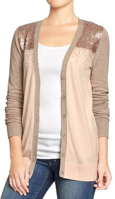 Old Navy Women's Sequined V-Neck Cardis