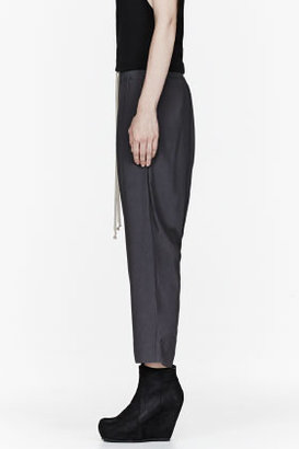 Rick Owens Grey low-rise Cropped harem Pants