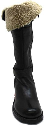 """Manas Design 0303"""" Black Leather Tall Boot"""