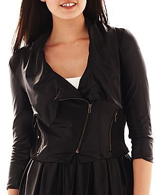 JCPenney Faux-Leather Moto Jacket