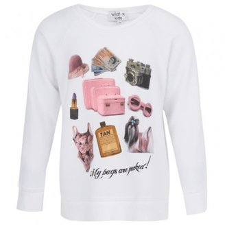 Wildfox Couture White 'Bags Are Packed' Sweatshirt