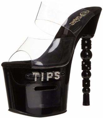 Pleaser USA Women's Dice-702-2 Platform Sandal