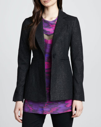 Nanette Lepore Planetary Shimmery Woven Blazer