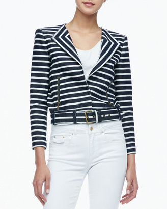 Rachel Zoe Brando Cropped Belted Jacket