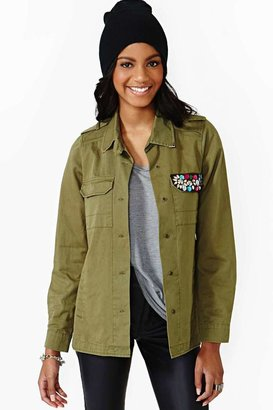 Nasty Gal Decorated Army Jacket