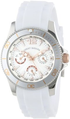 Tommy Bahama Swiss Women's TB2145 Riviera Swarovski Crystal Bezel White Dial Multi-Function and Strap Watch $77.47 thestylecure.com