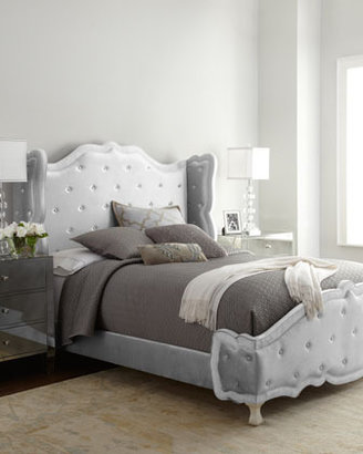 "Haute House Silver ""Tabitha"" King Tufted Bed"