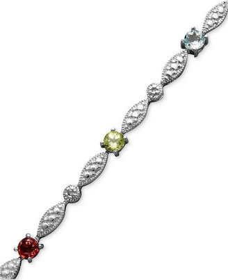 Townsend Victoria Sterling Silver Bracelet, Multistone Link (1/2 ct. t.w.)