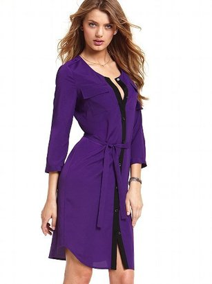 Victoria's Secret Colorblock Shirt Dress