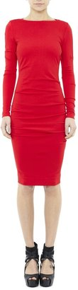 Nicole Miller Christina Long Sleeve Ponte Dress