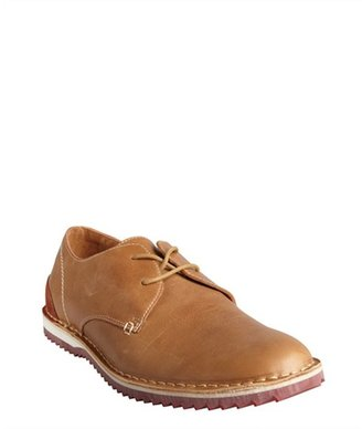 Kenneth Cole Reaction caramel leather lace-up 'Metal Jaw' oxfords