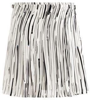 J.W.Anderson Stripe silk kilt skirt