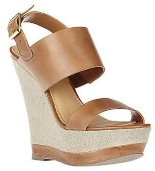Steve Madden Warmthh Leather Wedge Sandals