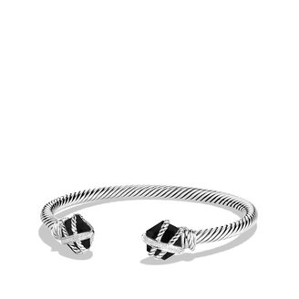David Yurman Cable Wrap Bracelet with Black Onyx and Diamonds
