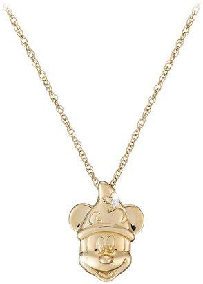 Disney Diamond Sorcerer Mickey Mouse Necklace 14K