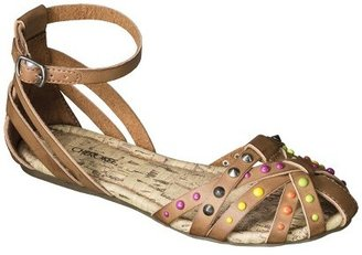 Cherokee Girl's Fredrika Studded Huarache Sandals - Tan