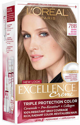 L'Oreal Excellence Triple Protection Permanent Hair Color Creme Dark Beige Blonde 7BB