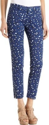 A.P.C. Cropped Leopard Skinny Jeans