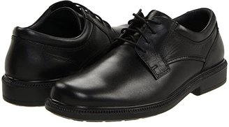 Hush Puppies Strategy (Black Leather) Men's Lace up casual Shoes