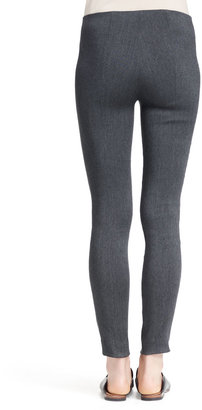 The Row Crossover Stretch Skinny Pants, Medium Gray
