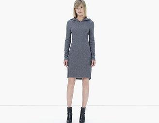 James Perse Brushed Fleece Hooded Dress