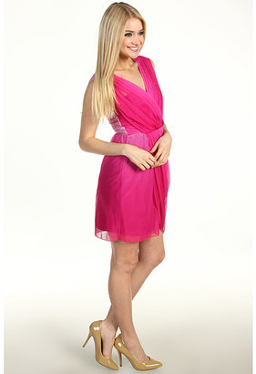 Max & Cleo Laura Ombre Jersey Mesh Dress