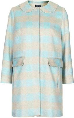 Topshop Check swing coat
