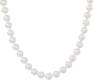 """Sterling Silver Shell Pearl Necklace White - 18"""""""