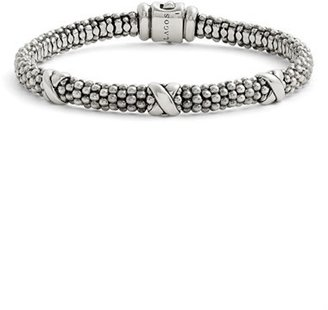 Women's Lagos 'Signature Caviar' Mini Oval Rope Bracelet $295 thestylecure.com