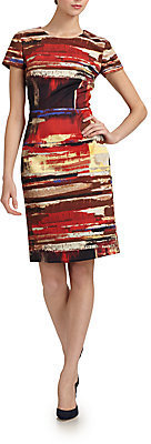 Carolina Herrera Cotton Paintbrush Dress