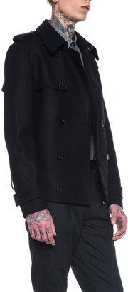 Kris Van Assche Wool and Cashmere Felt Coat in Black
