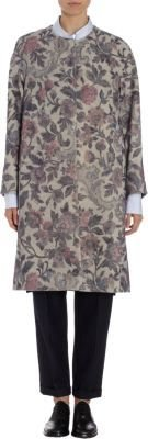 Dries Van Noten Tapestry Floral Melton Coat