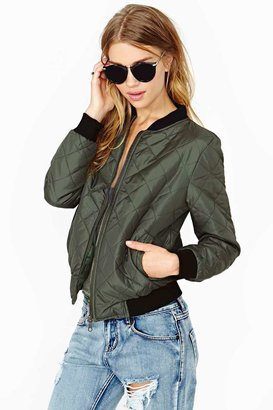 Nasty Gal Lover Army Bomber Jacket
