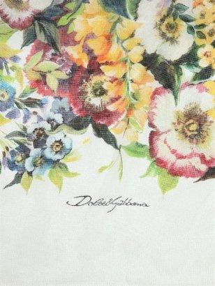 Dolce & Gabbana Printed Silk Crepe De Chine Scarf