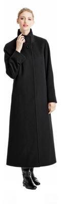 Cinzia Rocca Stand Collar Maxi Coat