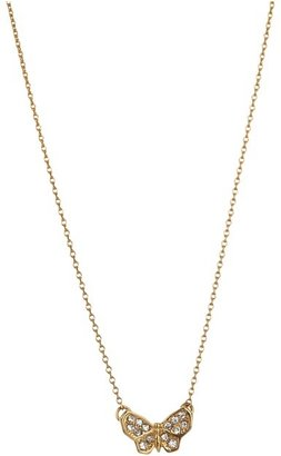 Juicy Couture Pave Butterfly Necklace (Gold) - Jewelry