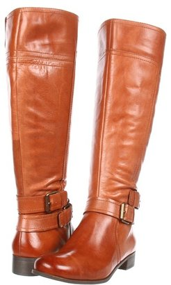 Nine West Shizaw Wide Calf (Black Leather) - Footwear
