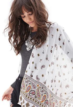 Forever 21 Paisley & Floral Print Kimono