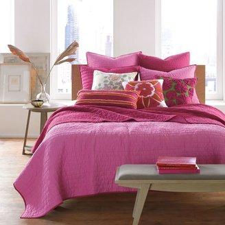 Bed Bath & Beyond Nostalgia HomeTM Reversible Pickstitch Quilt in Pink/Berry