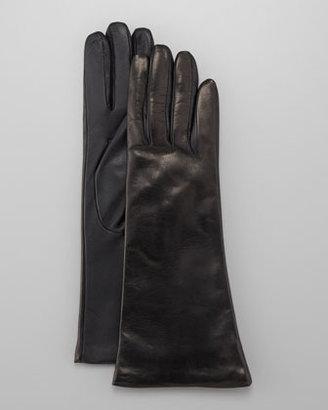 Portolano Leather Tech Gloves, Teak